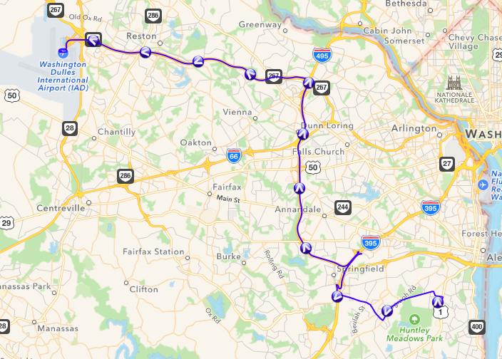 Alexandria to Dulles